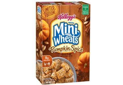 Pumpkin spice Mini Wheats, Kellogg