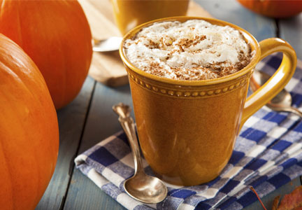 Pumpkin spice latte, seasonal flavors