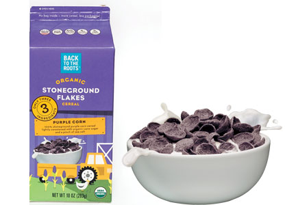 Back to the Roots Stoneground Flakes organic purple corn cereal