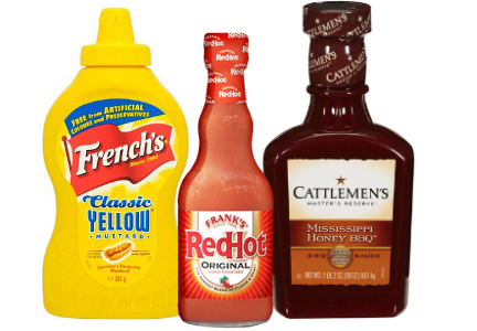 Reckitt Benckiser foods - Frank's Red Hot Sauce, French's mustard, Cattlemen's barbecue sauce