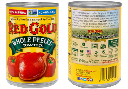 Red Gold tomatoes clean label