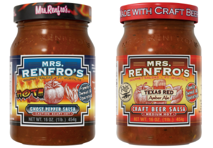 Mrs. Renfro's ghost pepper and craft beer salsa