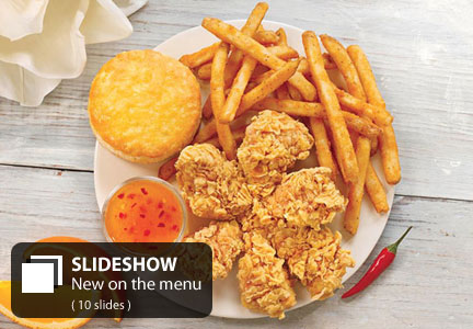 Slideshow New Menu Items From Popeyes Carls Jr Churchs Chicken
