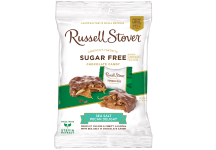 Russell Stover Sugar Free chocolate, Sea Salt Pecan Delight
