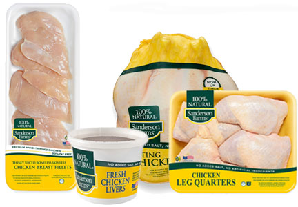 Sanderson Farms chicken products