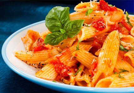 Satiety - pasta and tomato sauce
