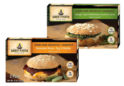Sweet Earth Natural Foods breakfast sandwiches