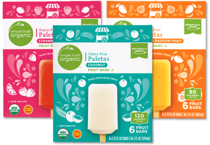 Kroger Simple Truth dairy-free paletas