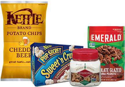 Snyder's-Lance Diamond Foods brands - Kettle Brand, Pop Secret, Diamond of California, Emerald
