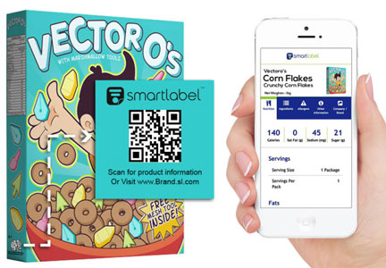 Using SmartLabel on cereal
