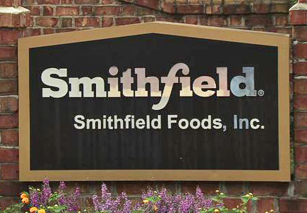 Smithfield Foods sign