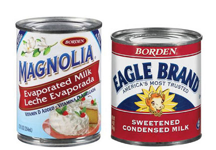 Magnola and Eagle Brand canned milk