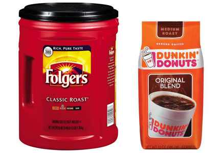 J.M. Smucker Co. coffee: Folgers, Dunkin' Donuts