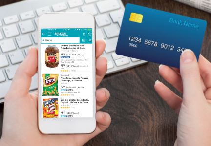 Shopping for snacks on-line, e-commerce