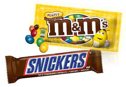 Snicker and M&Ms, Mars