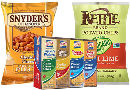 Snyder's-Lance pretzels, chips and sandwich crackers
