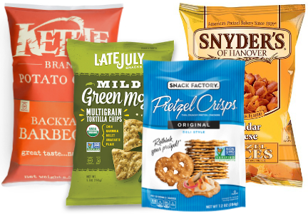 Snyder's-Lance brands: Kettle Brand, Late July, Snyder's of Hanover, Snack Factory Pretzel Crisps