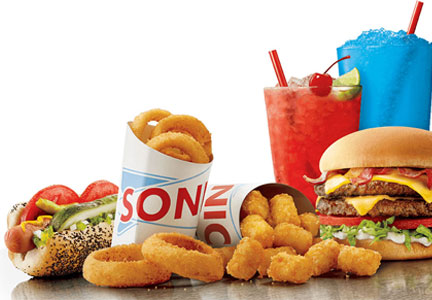 Sonic food and beverage offerings