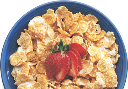Cereal with sorghum syrup