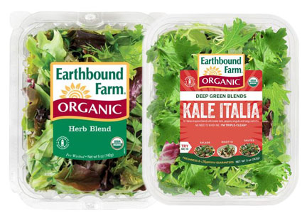 Earthbound Farm specialty greens salad mixes