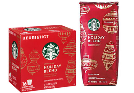 Starbucks holiday blend coffees 2015