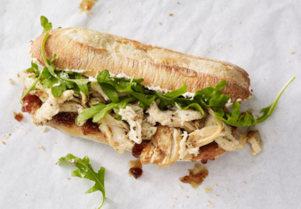 Starbucks herb chicken and fig sandwich