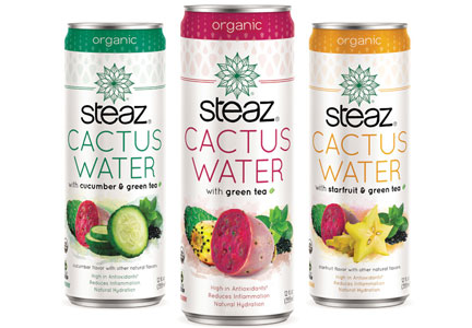Steaz naturally flavored beverages, clean label