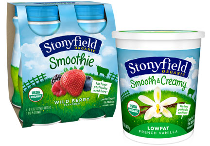 Stonyfield Smooth & Creamy yogurt and smoothies