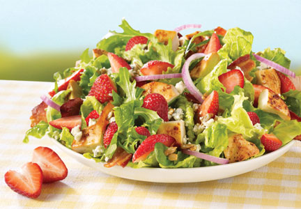 Summer salad, seasonal flavors
