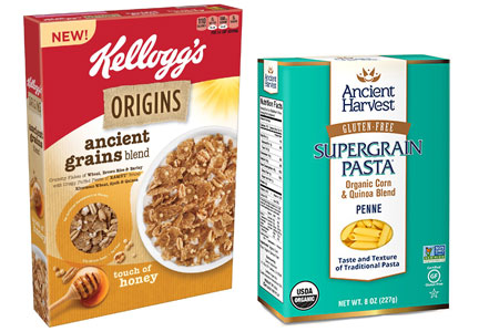 Products featuring ancient grains and supergrains