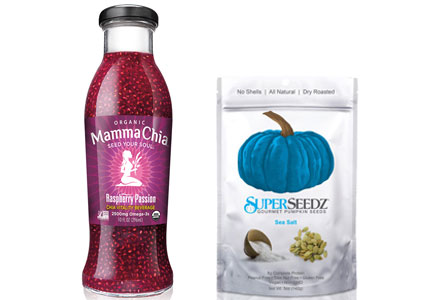 Products featuring superseeds, superfoods
