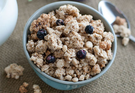 Snackworthy organic wild blueberry flax granola,  Lehi Valley Trading Co.