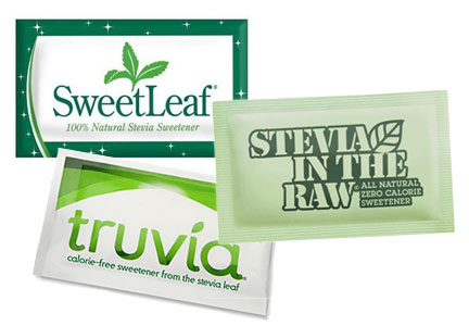 Tabletop stevia sweetenrs - Truvia, SweetLeaf, Stevia in the Raw
