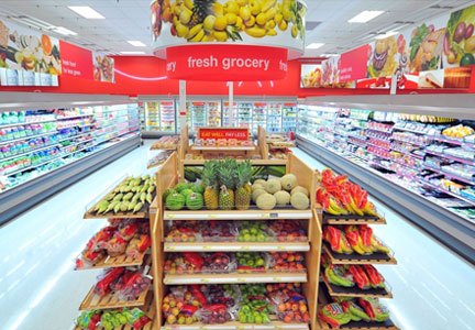 Target fresh grocery department