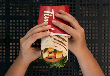 Tim Hortons AM/PM grilled wraps, Restaurant Brands