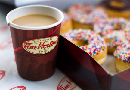 Tim Hortons coffee and donuts