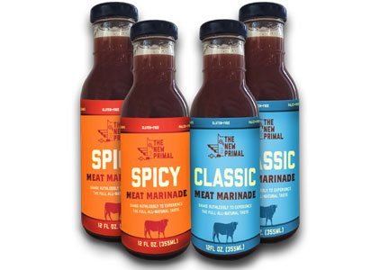The New Primal spicy and classic meat marinades