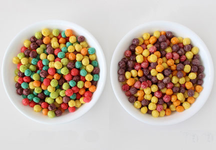 Trix before and after natural colors