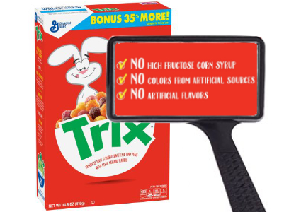 Clean label Trix cereal - no artificial colors