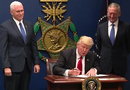 Trump signing immigration order