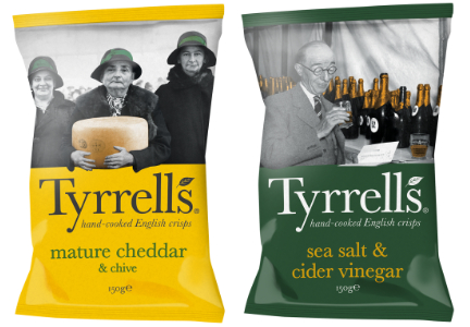 Tyrrels Mature Cheddar & Chive chips