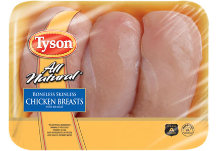 Tyson raw chicken breast
