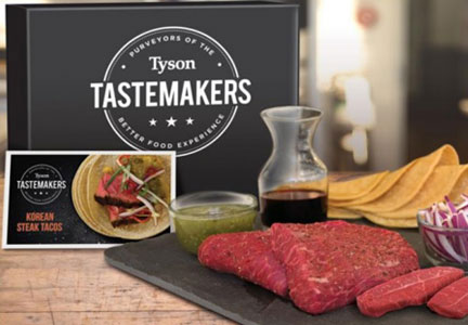 Tyson Taste Makers meal kit delivery service