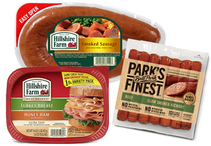 Tyson Foods - Hillshire Farm smoked sausage and deli meat, Ball Park hot dogs