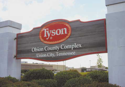 Tyson Foods Union City, Tennessee poultry plant