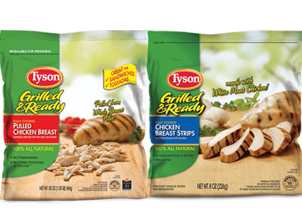 Tyson cooked chicken products