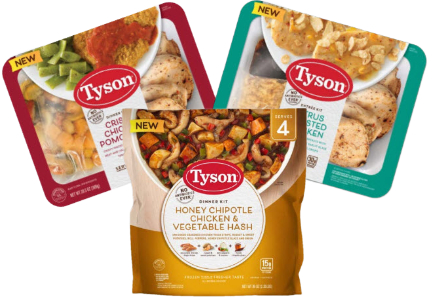Tyson Foods meal kits and dinner kits