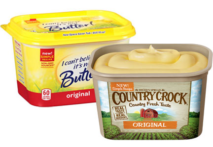 Unilever spreads - Country Crock, I Can't Believe It's Not Butter
