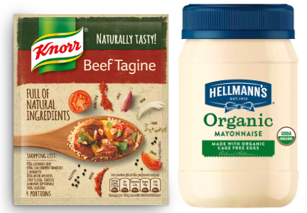 Knorr Natural, Hellman's Organic, Unilever
