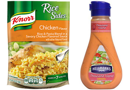 Unilever Knorr's sides and Hellman's dressing